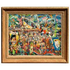 Providence Artist John Costigan Painting - Carnival