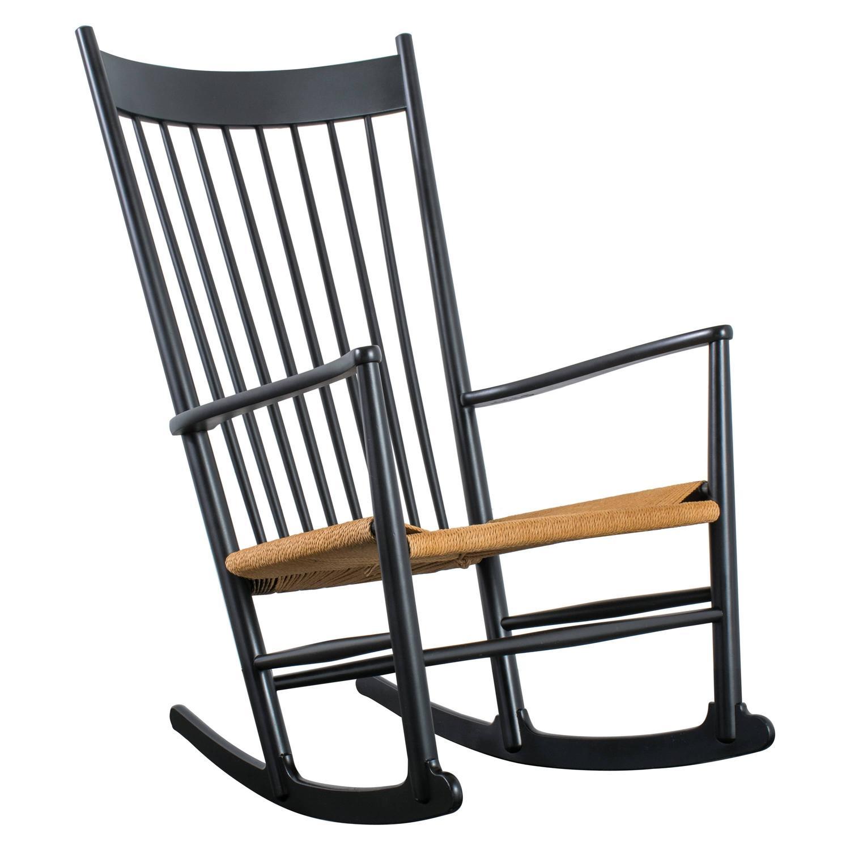 Mid Century J16 Rocking Chair by Hans Wegner at 1stdibs