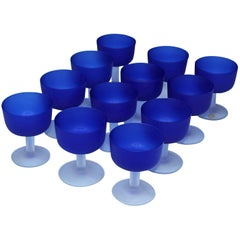 12 Italian Glass Goblets