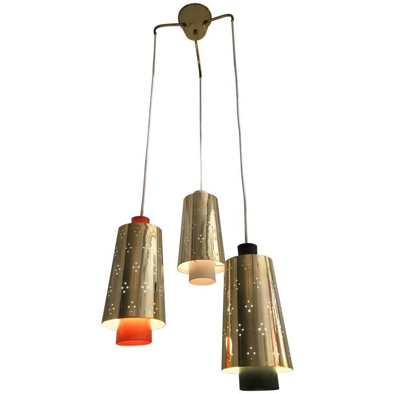 Three Shades Pendant Lamp, 1950s