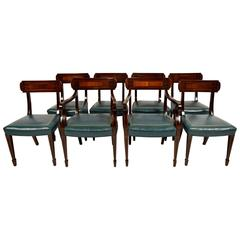 Set of Eight Mahogany Regency Dining Chairs