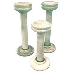 Karl Springer Designed Murano Trio Candlesticks Made by Seguso Vetri d'Arte
