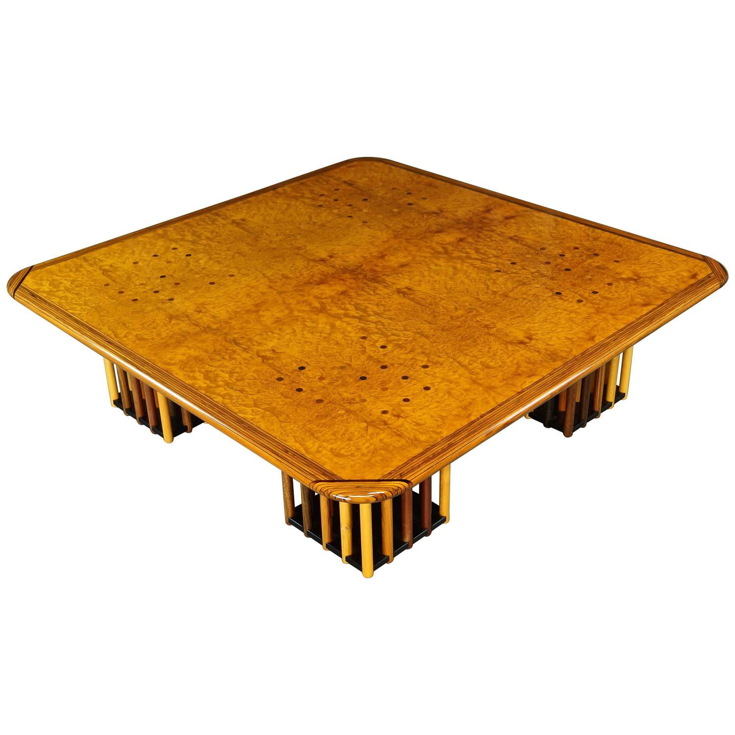 B and B Italia Burl Coffee Table Afra and Tobia Scarpa Maxalto