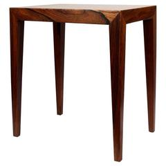 Severin Hansen Rosewood Danish Modern Side Table for Haslev Møbelfabrik, 1960s