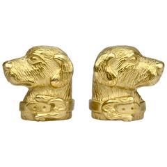 Pair of Barry Kieselstein-Cord 18-Karat Gold Labrador Retriever Dog Earrings