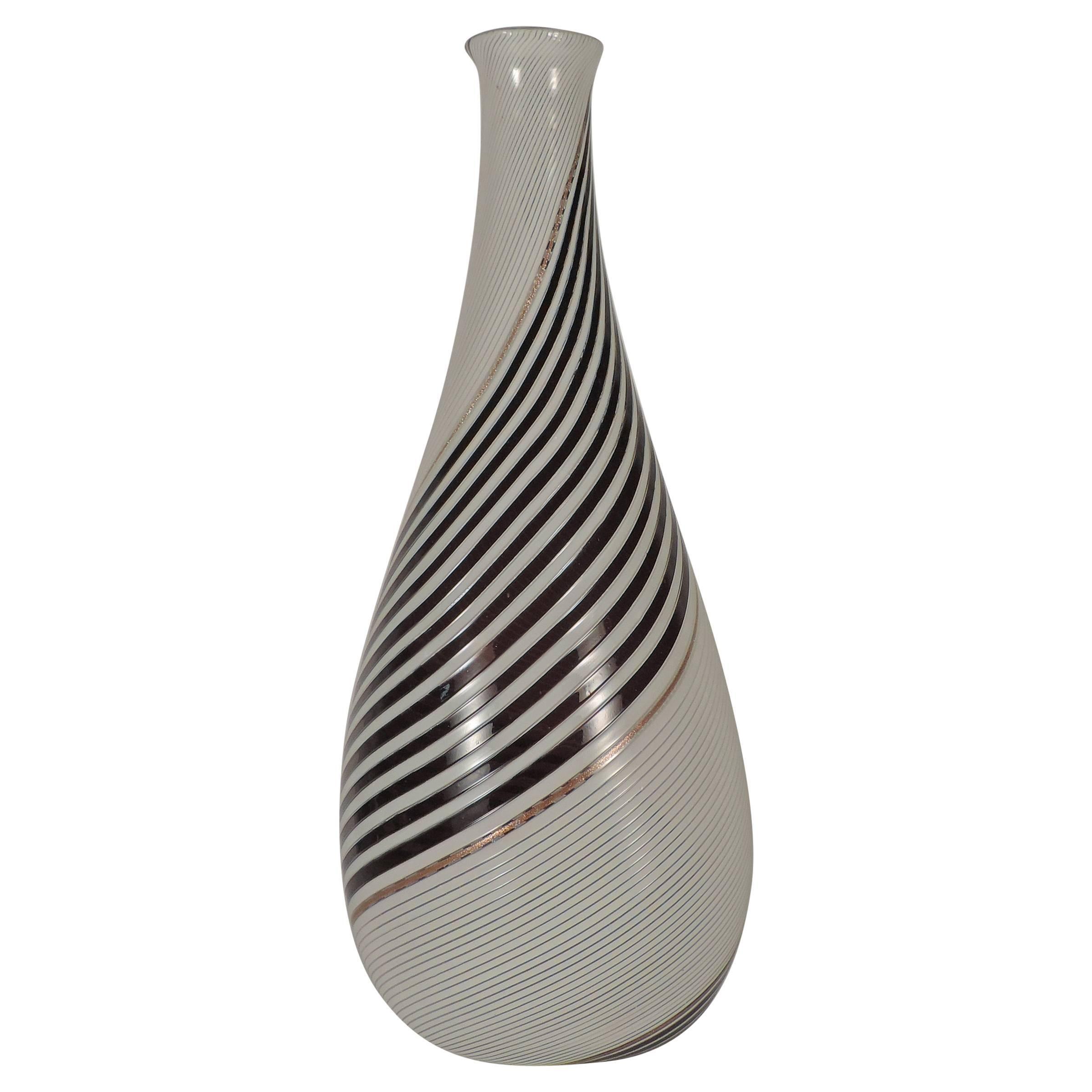 Splendid Large Dino Martens Vase for Aureliano Toso