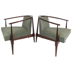 Pair Vintage Modern Lounge Chairs