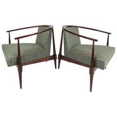 Pair Vintage Modern Lounge Chairs