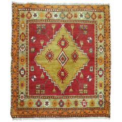 Vintage Anatolian Square Rug