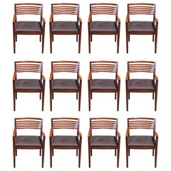 20th Century 12- Piece Set of Ricchio Armchairs for Knoll