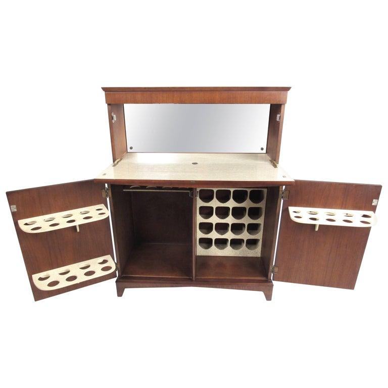 Mid Century Modern Walnut Dry Bar, Dry Bar Furniture