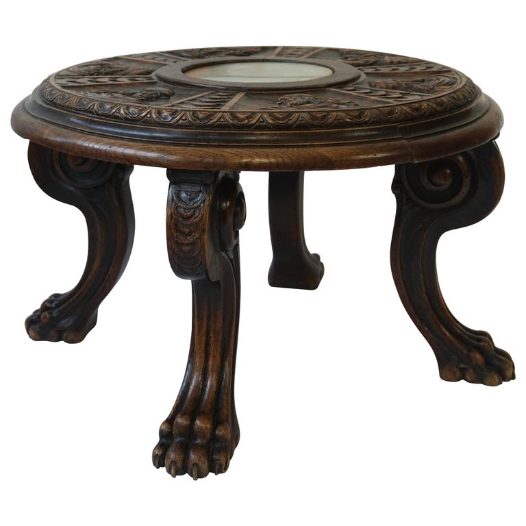 Carved Coffee Table For Sale