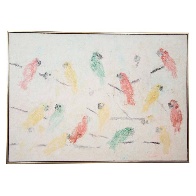 """Hunt Slonem, """"Conure Picul"""" 2001"""