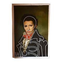 "Massive Original ""Portrait of Leon Cogniet"" Oil Painting by Butch Anthony"