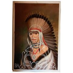 "Monumental Original ""Petal-e-Sharo Pawnee Indian"" Oil Painting by Butch Anthony"