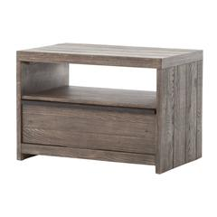 Low Oak Nightstand