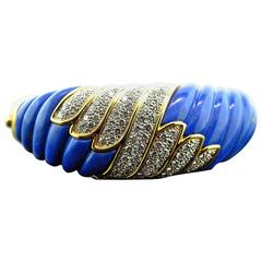 Charles Turi Lapis, Gold and Diamond Bracelet, 1980s