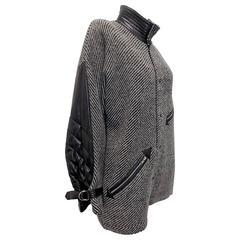 Jean-Charles de Castelbajac vintage  Arrow coat jacket with Leather Sleeves