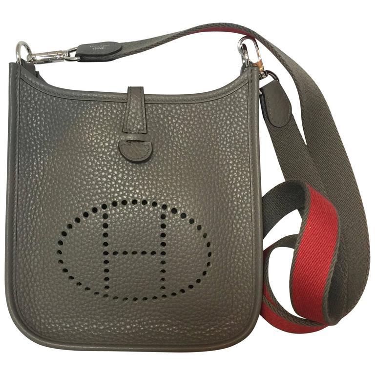 Hermes Tpm Mini Evelyne Bag In Etain Clemence For