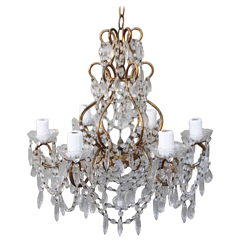 Hand beaded ship chandelier at 1stdibs arubaitofo Choice Image