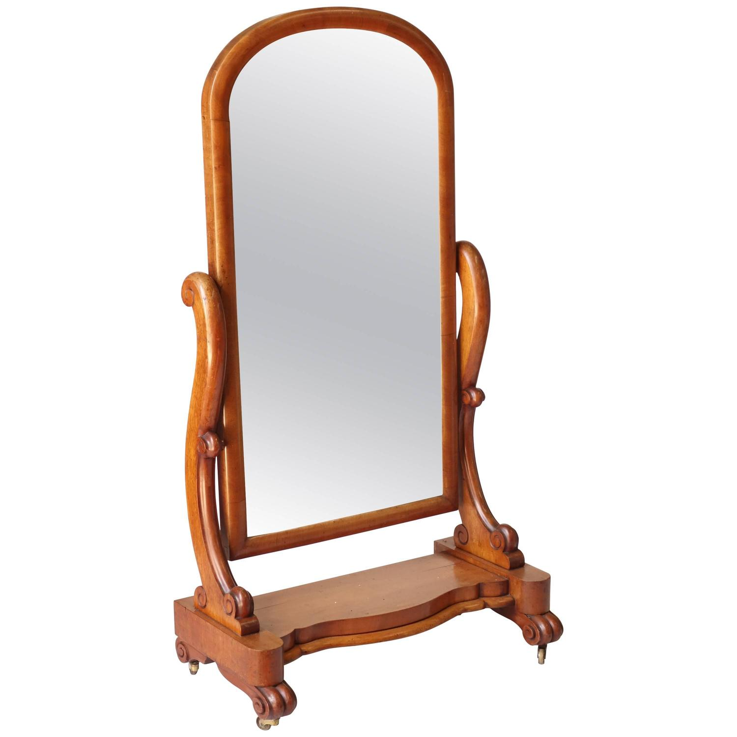 Victorian floor standing mirror for sale at 1stdibs for Floor length mirror for sale