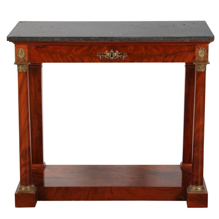 1820s French Mahogany Empire Console Table