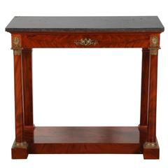 1820s French Mahogany Empire Console Table