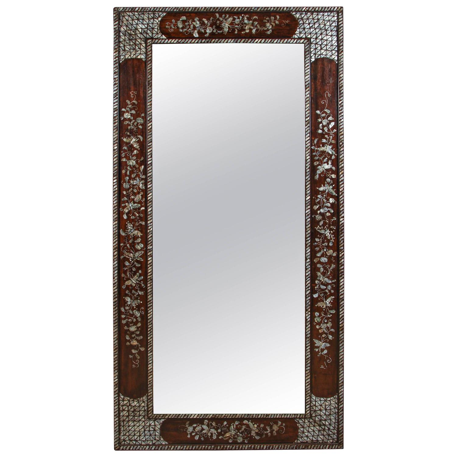 Late 19th Century Mother Of Pearl Inlaid Mirror At 1stdibs