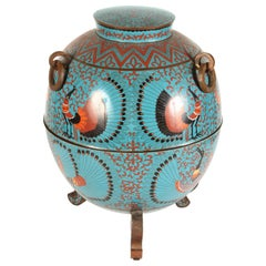 Chinese Art Deco Cloisonne Incense Burner