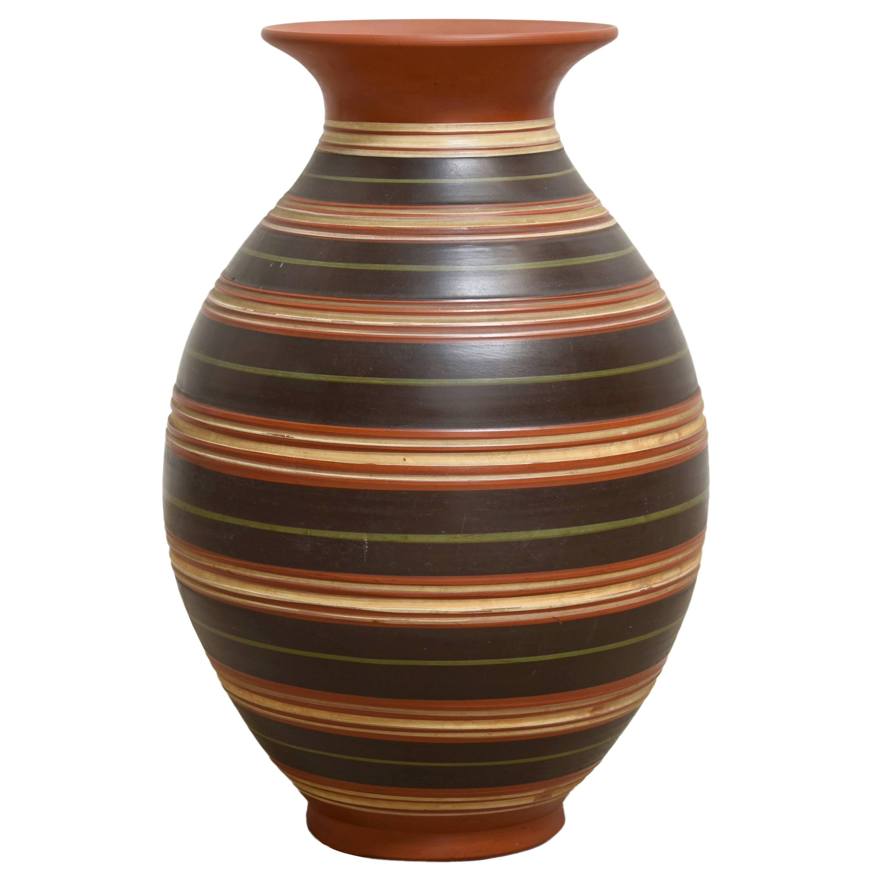 A Beautiful Edelkeramik Handmade Vase, West Germany,1950s