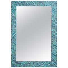Malachite Pattern Decoupage Mirror