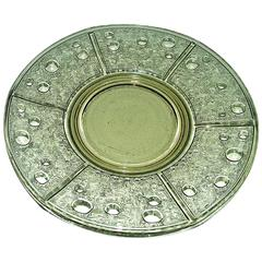 "French Art Deco Verlys Glass Plate ""Les Disques"""