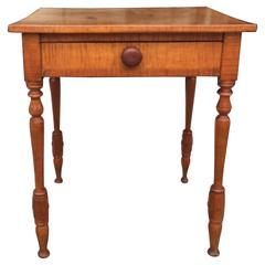 American Figured Maple Work Stand, circa 1830