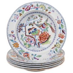 "Set of 14 Mason's ""Flying Bird"" Pattern Ironstone Soup Dishes"