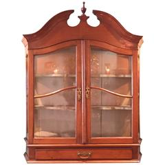 French Cherry Wall-Mount Cupboard, circa 1800
