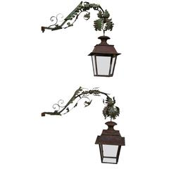 Pair of 18th Century Lanterns with 19th Century Potences