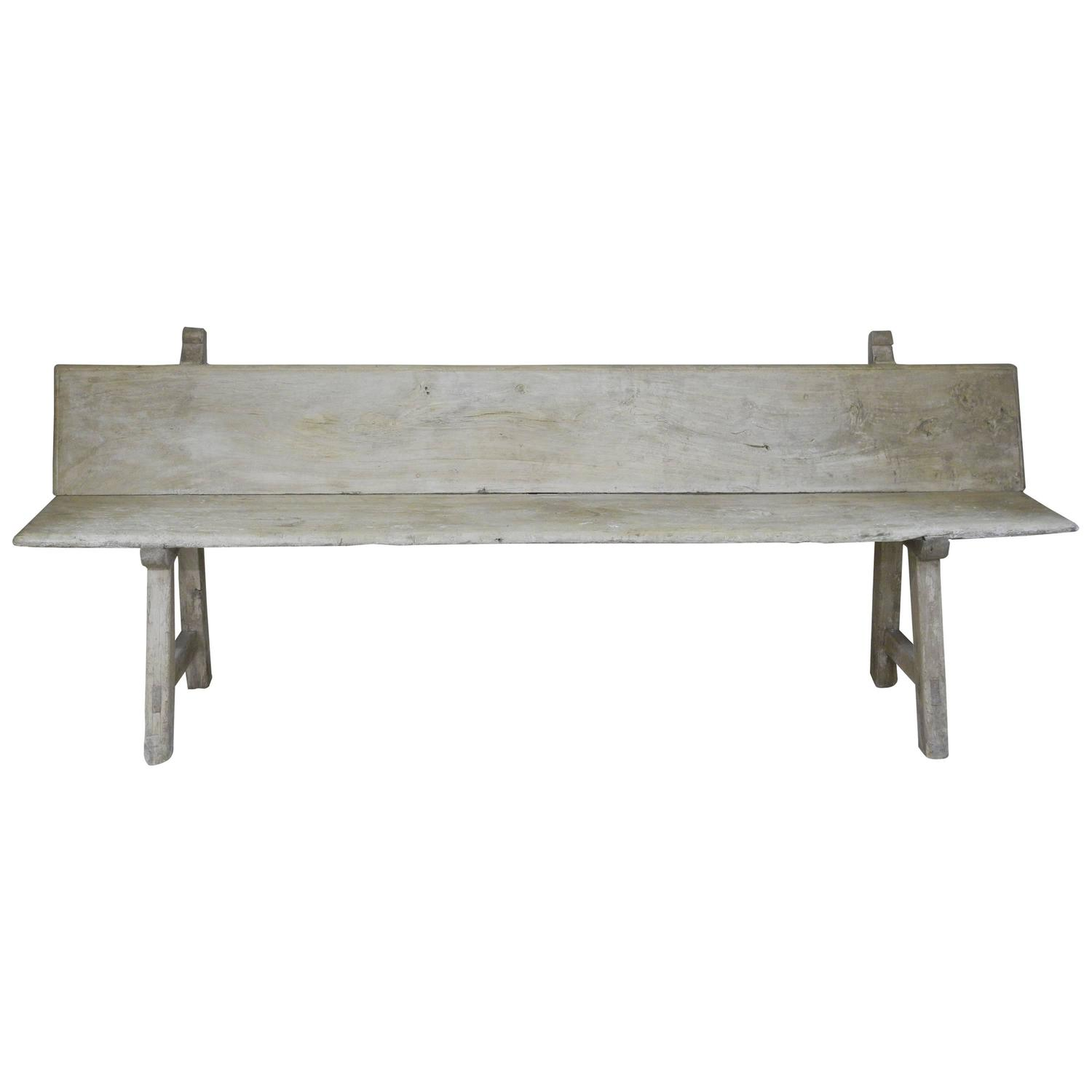 Antique Spanish Wooden Bench Circa 1800 For Sale At 1stdibs