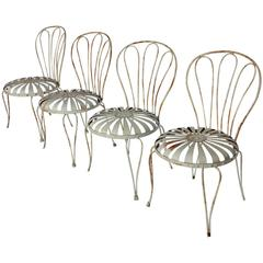 1930s French Sunburst Garden Chairs by Francois Carre
