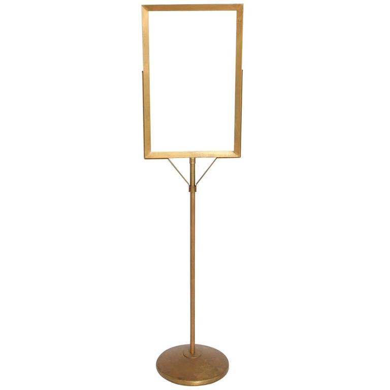1930s Department Store Free Standing Metal Sign Stand