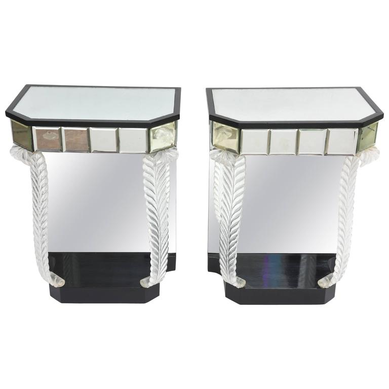 Grosfeld House 'Glassics' End Tables or Night Stands