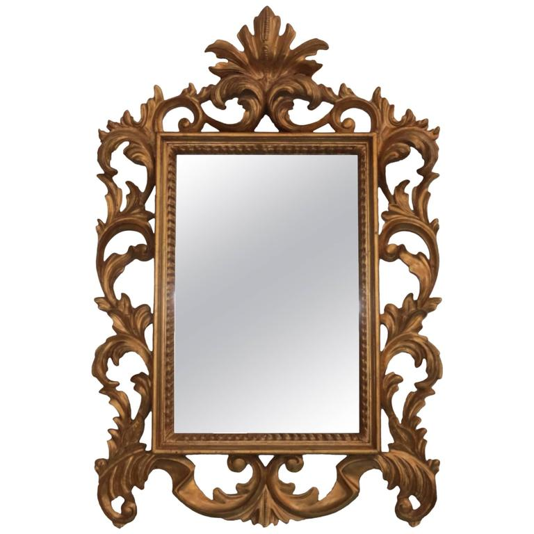Hand carved rococo style gilt decorative mirror for sale for Rococo decorative style
