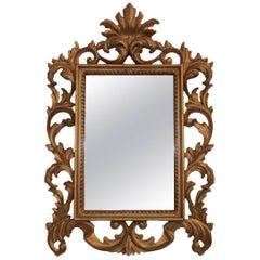Hand-Carved Rococo Style Gilt Decorative Mirror