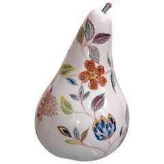 "Large (20"" tall) Italian Midcentury Decorative Pear, 1960s"