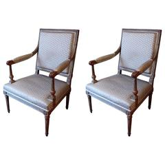 Pair of French Armchair, Louis XVI Period