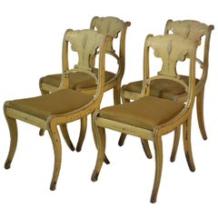19th Century Set of Four English Small Painted Chairs