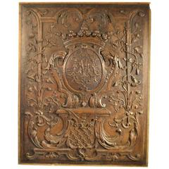 18th Century Carved Wood Panel