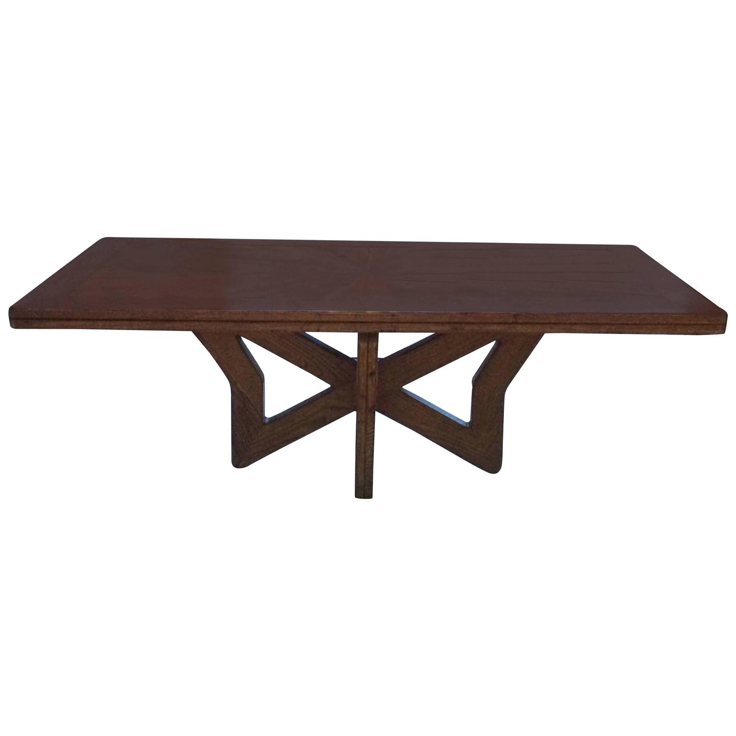 pieced wood top dining table spain 1950s at 1stdibs