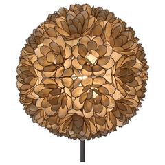 All Original Mother-of-pearl Flower Ball Floor Lamp
