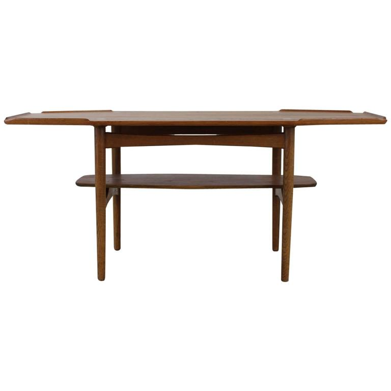 Danish Design Nicely Edged Coffee Table In Oak With Brass Inlay For Sale At 1stdibs