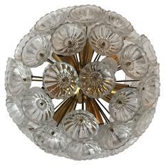 Austrian Glass Dandelion Pendant